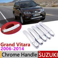 Pour Suzuki Grand Vitara Grand Nomade L'escudo 2006 ~ 2014 Poignée De Porte Chromée Accessoires De Voiture Autocollants Ensemble De Garniture 2008 2011 2013