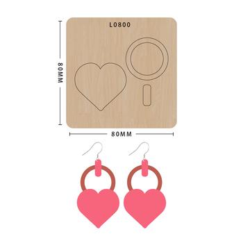 SMVAUON notatnik Die Cut Cartoon kolaż kolczyk w kształcie serca handmade nowe matryce drewniany szablon do wycinania formy do wykrawania drewna tanie i dobre opinie Serce Leather Tools