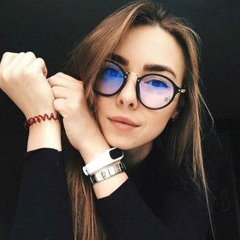 Mała ramka okrągłe okulary na krótkowzroczność fotochromowe wykończone kobiety oprawki okularów dla osób z krótkowzrocznością z kolorowe szkła okulary krótkowzroczność FML