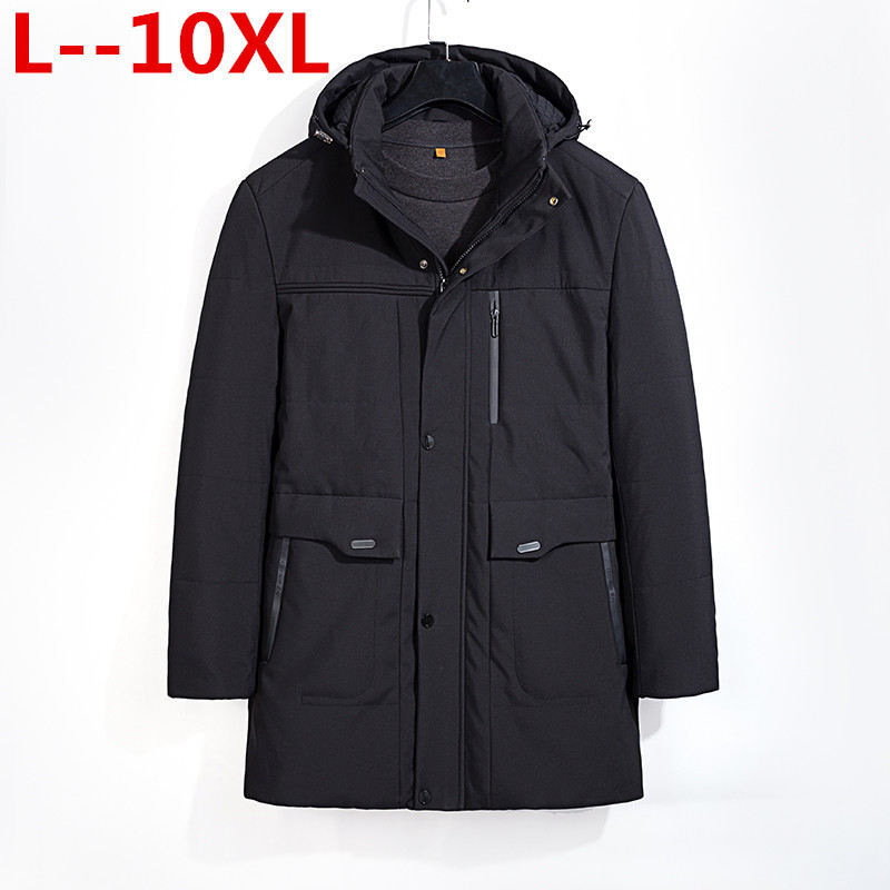 NEW Big 8XL 7XL 6XL 5XL  Large Size Warm Outwear Winter Jacket Men Windproof Hood Men Jacket Warm Men Parkas Plus Size