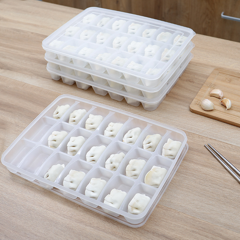 Refrigerator Storage Quick-frozen Jiao Zi He Household Plastic Transparent Seperated With Wonton Dumplings Boxed Dumplings Of Tr