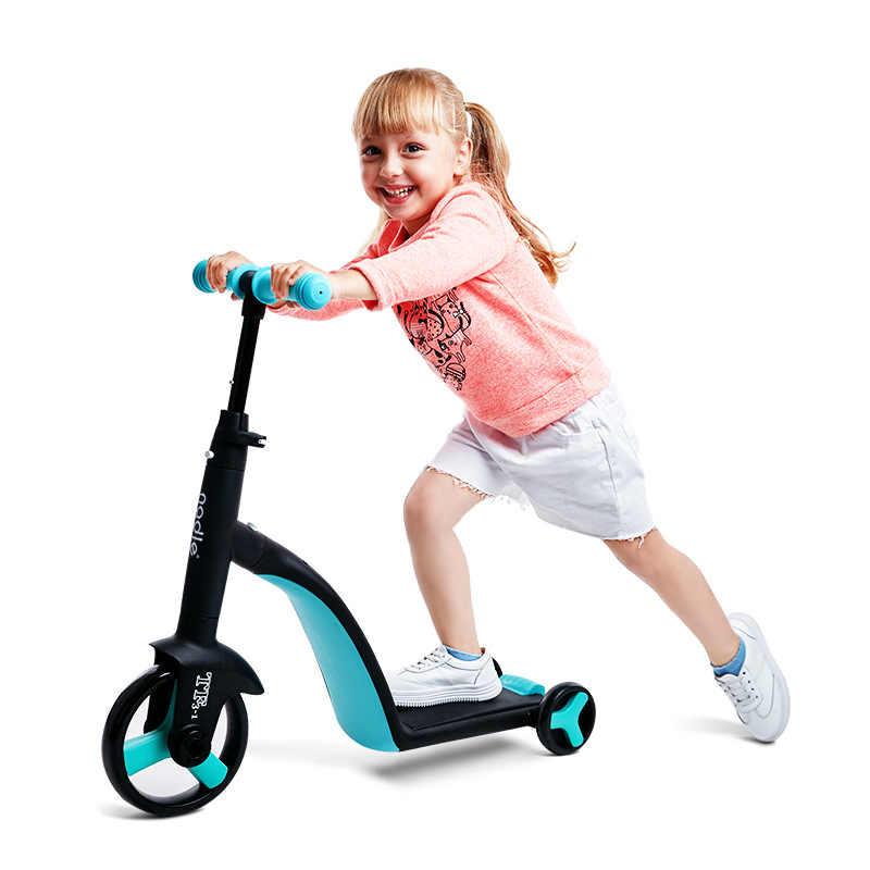 フリースタイルkickスクーター多機能子供スクーター3で1子供スライド三輪車3輪ブランス車のため2-6年