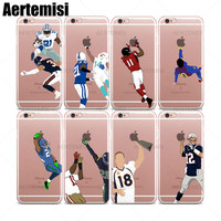 Aertemisi 100 Phone Cases Michael Crabtree Richard Sherman Clear TPU Case Cover for iPhone 6 6s 7 8 Plus X XS XR 11 Pro Max