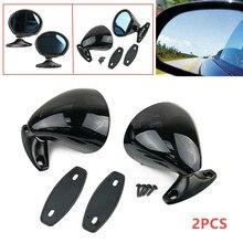 Universal 2PCS สีดำคลาสสิกรถ Auto ประตูสีฟ้า Anti glare ด้านข้างกระจก