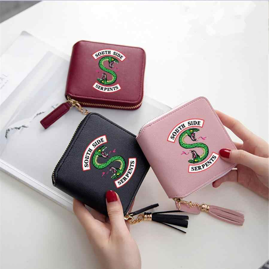 New Riverdale Serpents Cosplay Accessories Archie Betty Women Girls Wallet Metal PU Zipper Tassel Square Coin Purse Card Bag