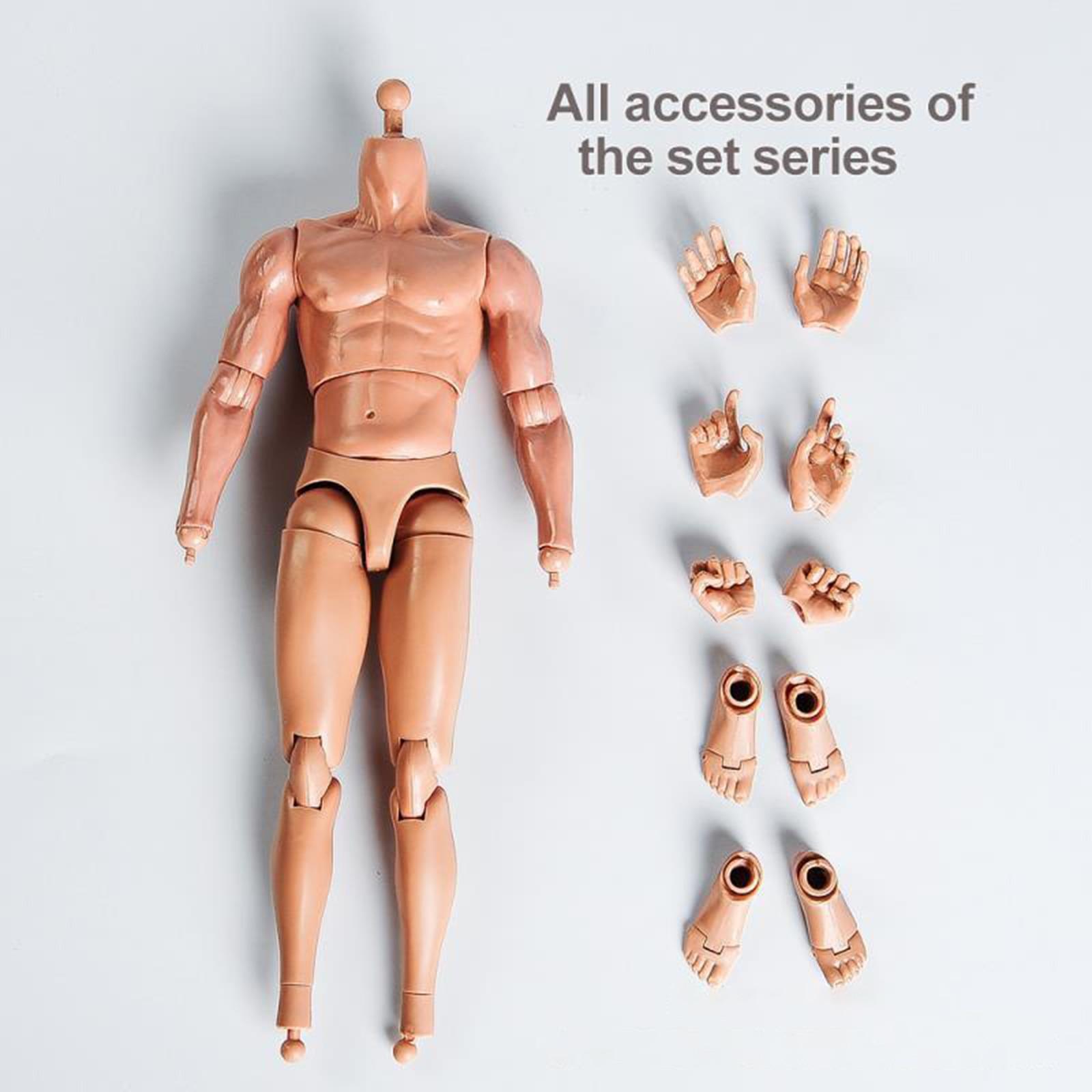 1:6 весы гибкие бесшовные рисунок реалистичный составной-фигурка мускулистый мужской обнаженное тело Фигурки игрушки 12 дюймов Высота куклы ...
