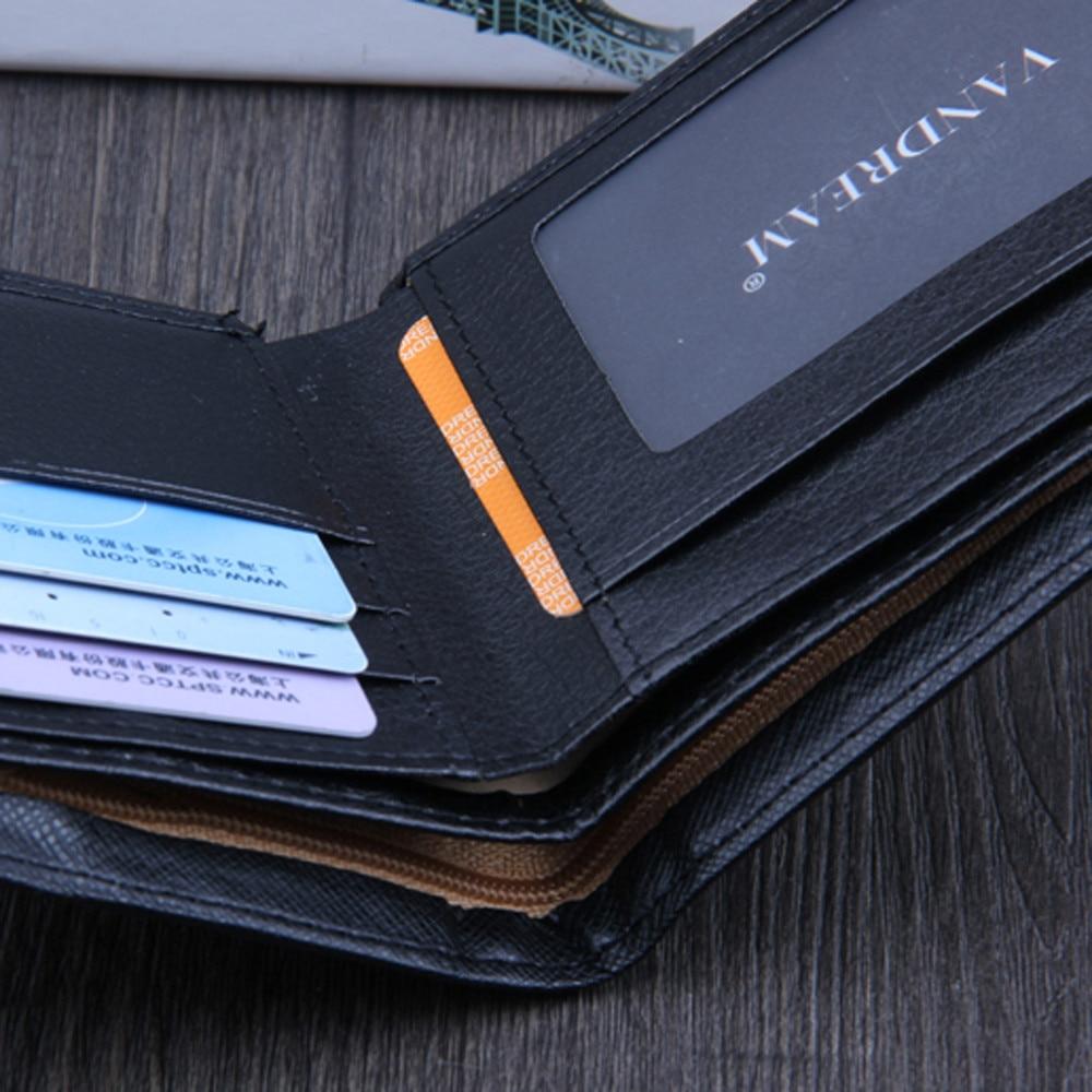 Men Bifold Business Leather Wallet  ID Credit Card Holder Purse men's wallet clutch portfel cuzdan billetera carteira  (20)