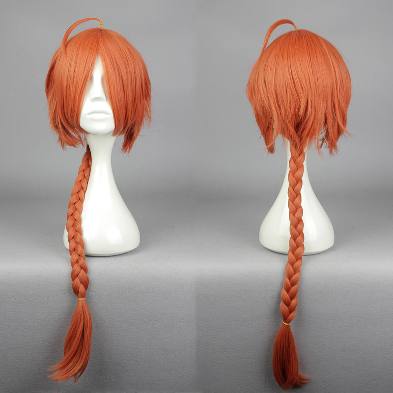 Headwear Cosplay Synthetic-Hair Anime Heat-Resistant Halloween Red Long Kamui Wig-Cap
