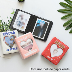 3Inches Cartoon Album Holds PVC Hollow Love Heart Model Photo Holder Photo Album 3 Plug-in Letters Business Card Bag Card Holder