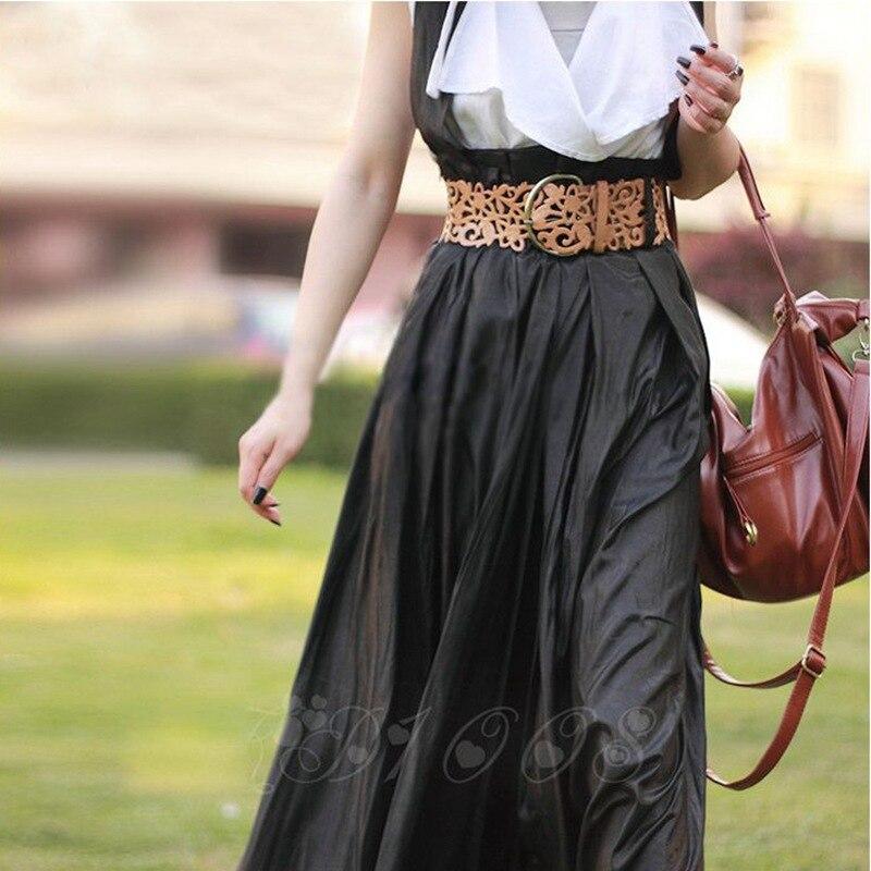 Модный ажурный декоративный широкий пояс, женский пояс, модный кожаный пояс, ретро пояс