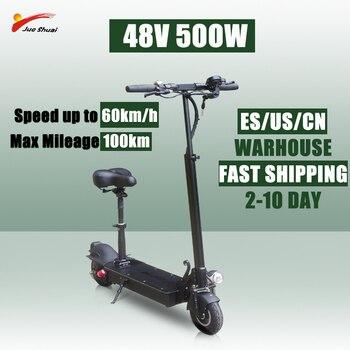 Sooter eléctrico 48V500W plegable 26Ah batería Kick e scooter de Skateboard adulto vehículo eléctrico ④ 3,8*3,0*3,0*3,0*3,0