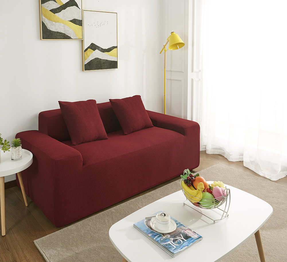 MEIJUNER Waterproof Sofa Cover in Solid Color with High Stretchable Slipcover for Dining Room 19