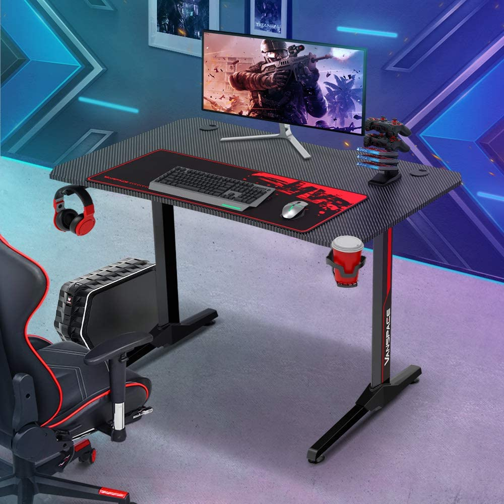 43/'/' Gaming Desk Office PC Computer Desk Gamer Table with USB Gaming Handle Rack