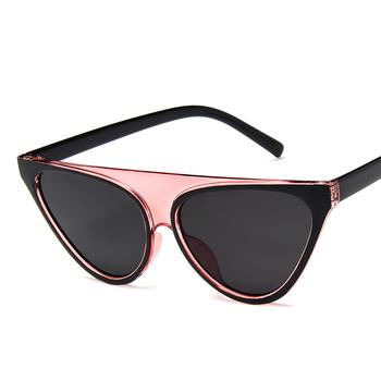 Okulary przeciwsłoneczne damskie okulary przeciwsłoneczne dla kobiet w stylu Vintage kobieta okulary przeciwsłoneczne modne okulary przeciwsłoneczne moda damskie designerskie okulary przeciwsłoneczne tanie i dobre opinie GUANGDU Cat eye Dla dorosłych Kobiety Z tworzywa sztucznego Akrylowe MN98005 53mm 41mm