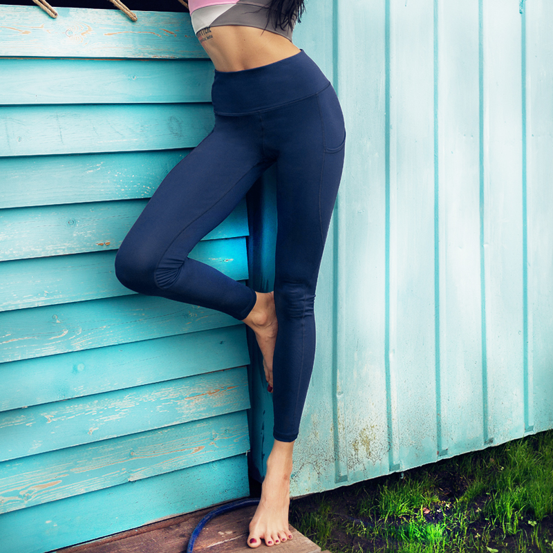 Vutru Girl leggings Women Yoga Pants s solid mesh Running Tights For Fitness Gym Clothing Outfdoor sports