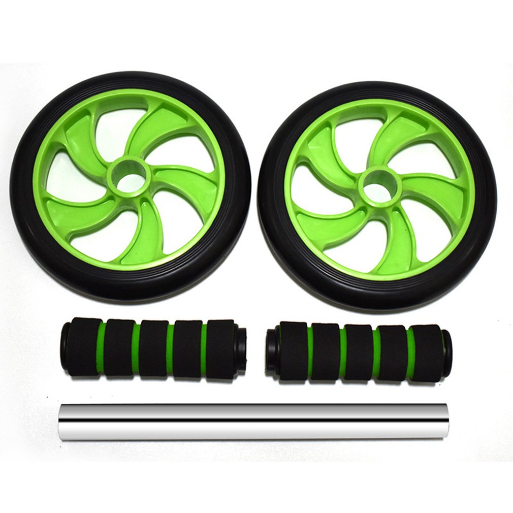 2019 Double-wheeled Updated Ab Abdominal Press Wheel Rollers Crossfit Gym Exercise Equipment for Body Building Fitness image