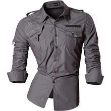 Jeansian Mens Casual Dress Shirts Fashion Desinger Stylish Long Sleeve Slim Fit 8371 Gray