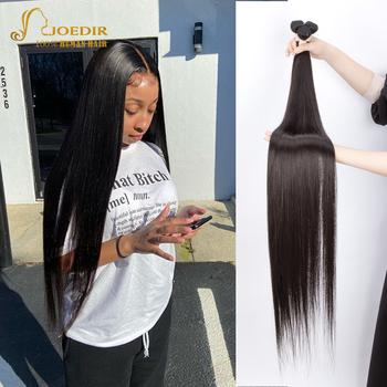 Joedir włosów 28 30 32 34 36 38 40 Cal pasma prostych włosów peruwiańskie pasma włosów Remy ludzki włos wyplata jedwabiste włosy 3 4 sztuk tanie i dobre opinie Proste = 5 CN (pochodzenie) Remy włosy Kwas przetwarzania 3 sztuk wątek i 1 pc zamknięcia Peruwiański włosów