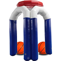 Free Shipping 2.5m PVC Giant Inflatable Basketball Shooting Hoop Stand Family Games Outdoor Sports Shot Game for Kids Adults