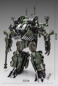 Image 5 - WJ Transformation Toys Brawl Alloy 28CM SS Leader Camouflage M04 Tank M1A1 Mode KO Action Figure Robot Model Collection Gifts