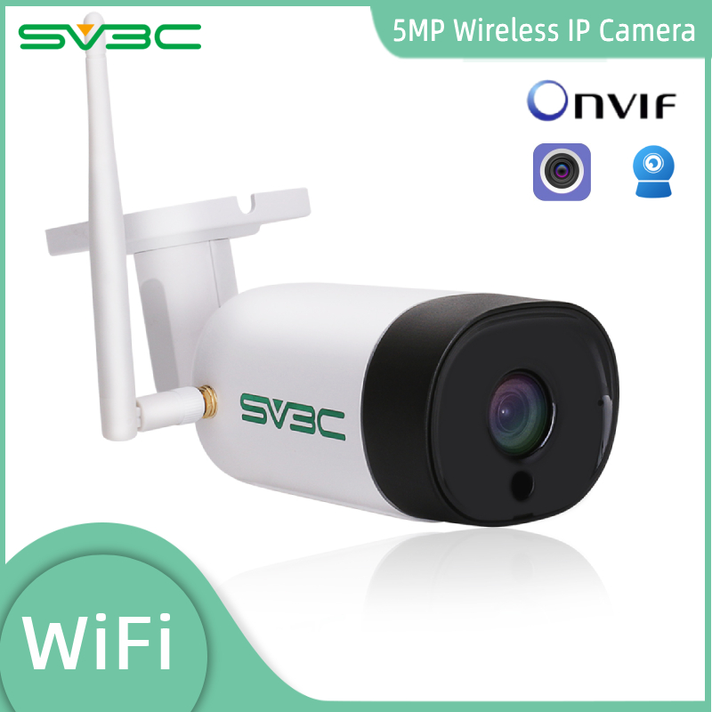 SV3C HD  5MP 3MP Bullet IP Camera WIFI Wireless Security Waterproof  Camera Support Two Way Audio IR nightvision distance 20M