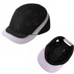 Image 2 - Tampão de colisão anti impacto capacetes de pouco peso capacete de segurança de trabalho de proteção com listras reflexivas respirável chapéu de segurança 4 cores