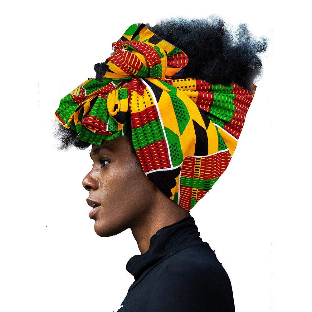 African Headwrap In Women's Hair Accessories Scarf Wrapped Head Turban Ladies Hair Accessories Scarf Hat Headwrap Long Tail Cap