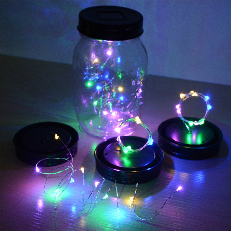 1/2M 10/20 LED Solar Christmas Holiday Light String Wedding String Fairy Light For Mason Jars Lights Glass Outdoor Decor IP65