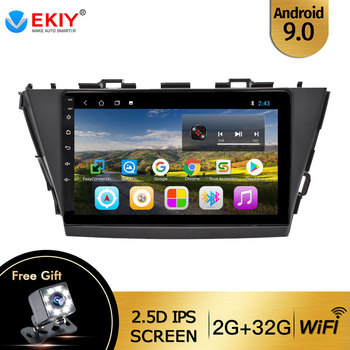 EKIY For Toyota V Plus Prius Alpha RHD 2012-2015 Autoradio 2din Android 9 DVD Car Multimedia Video Player Stereo Navigation GPS image