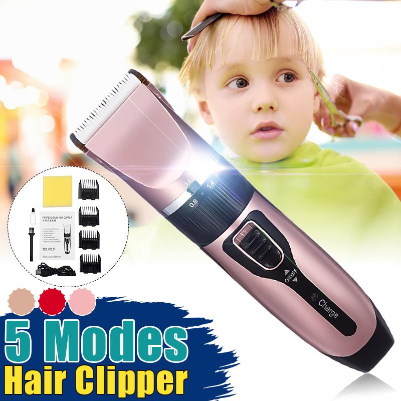Professional Electric Hair Trimmer Length Adjustable Hair Clipper Rechargeable Hair Cutting Machine Barber Men Children Haircut