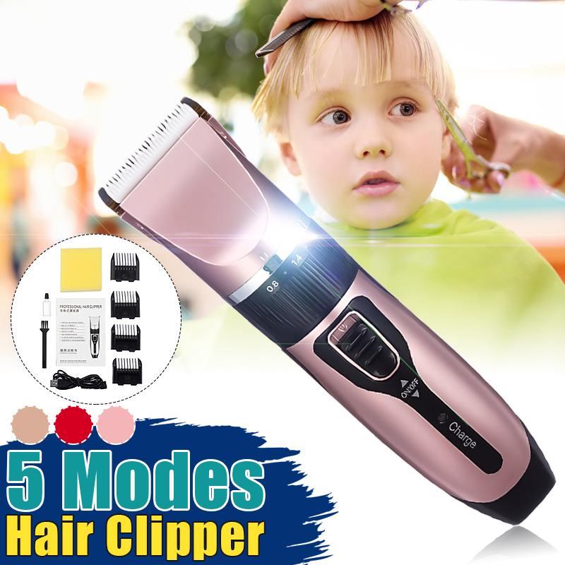 Professional Electric Hair Trimmer Length Adjustable Hair Clipper Rechargeable Hair Cutting Machine Barber Men Children Haircut