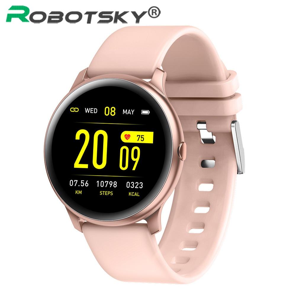 KW19 Smart Watch Women IP67 Waterproof Heart Rate Monitor Message Reminder Fitness Tracker Men Sport Smartwatch PK T4 DT88