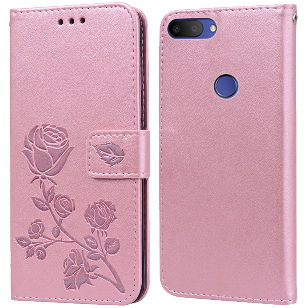 Luxury Leather Flip Book Case for Alcatel 1S 2019 5024d 1S 2020 Rose Flower Wallet Stand Case Phone Cover Bag(China)