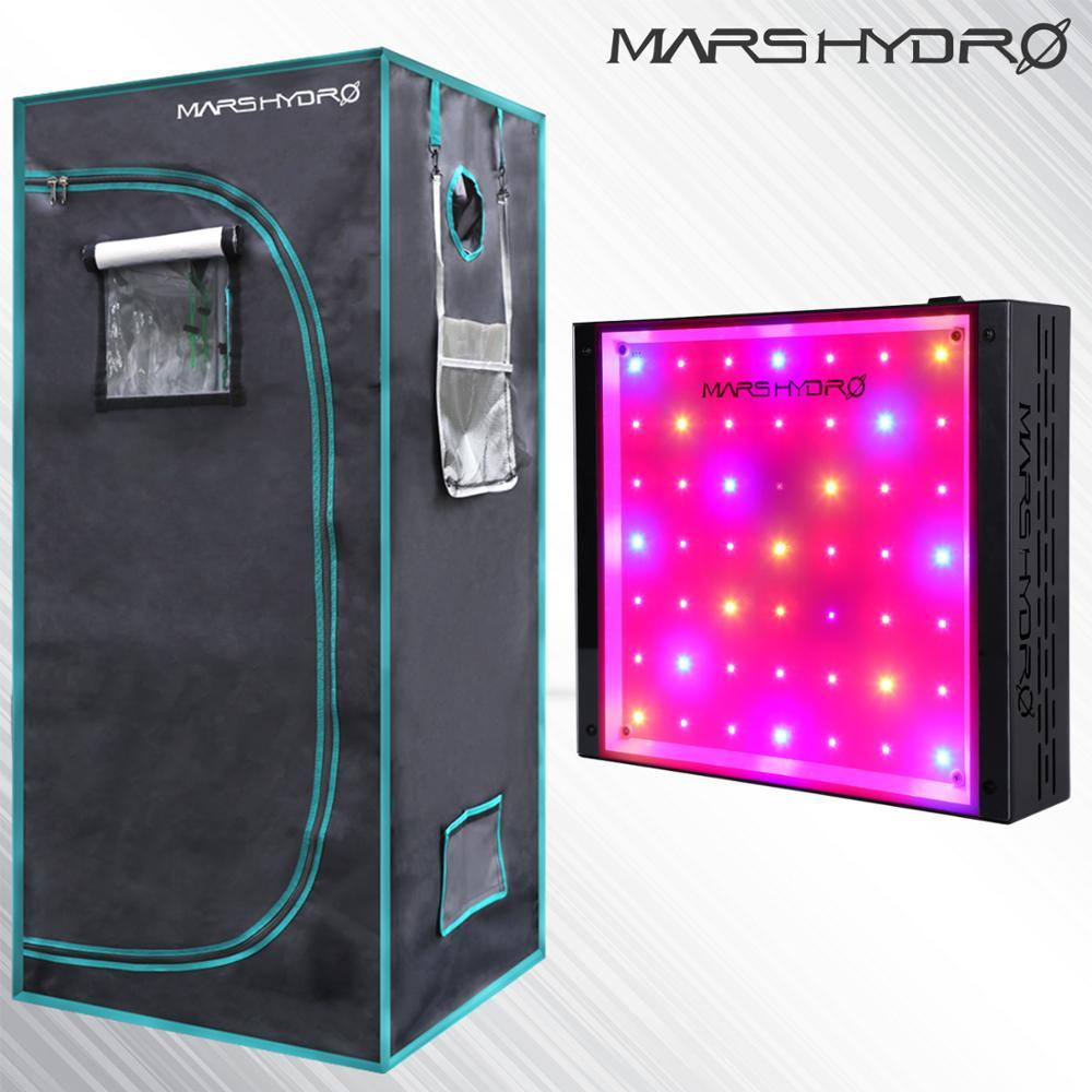 Mars ECO 300W Led Grow Light Veg Flower Full Spectrum Lamp Panel + 70x70x160cm Indoor Grow Tent