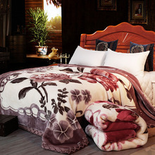 Super Soft Warm Fluffy Weighted Blanket Double Layer Raschel Mink Blanket For Double Bed Winter Bed Linens Thick Blanket