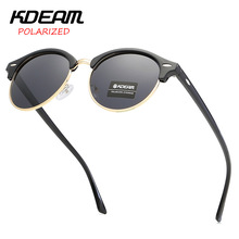 Fashion Sunglasses Men Women KDEAM TAC LensTop Luxury Brand Polarized Pilot Unisex Driving Mirror Eyewear
