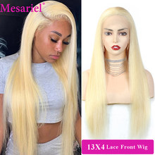 613 Blonde Lace Front Human Hair Wigs 13X4 Transparent Lace Wigs 180% Malaysian Straight Hair Lace Frontal With Baby Hair