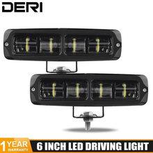 6D Lentille lumière led bar 6 pouces 20W BARRE DE led conduite hors route lumière de Travail de faisceau de lampe pour Niva lada 4X4 ATV SUV CAMION TRACTEUR 12V 24V