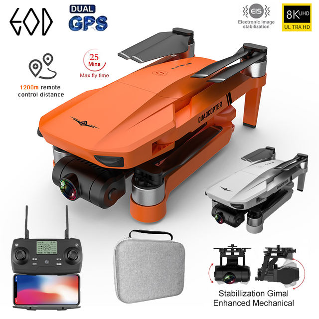 New 4k Professional GPS Drone 8K HD Camera 2-Axis Gimbal Anti-Shake Aerial Photography Brushless Foldable Quadcopter 1.2km