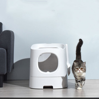 Smart Cat Litter Tray Toilet Box Semi Closed Automatic Deodorization Splash Proof Pet Toilet Box Mobile Phone Control Monitor