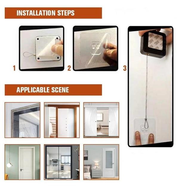 Door Closer Punch-Free Automatic Door Closers For Drawers Rawstring Door Closer Bracket Door Automatic Closer 4