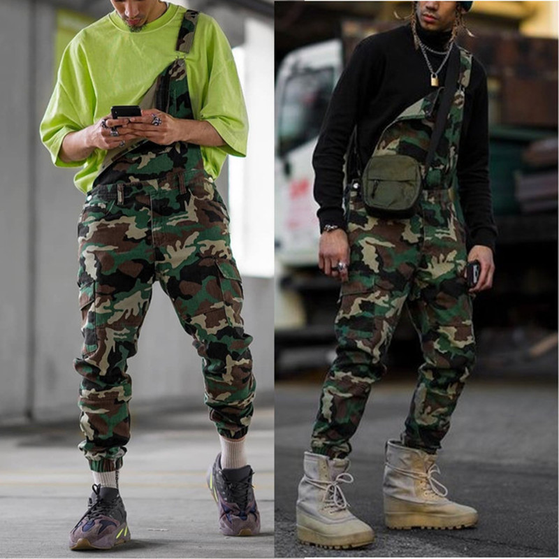 Rompers Mens Jumpsuit 2020 New Fashion Military Tactical Camouflage Cotton Casual Male Pants Overalls Roupa Masculina Plus Size