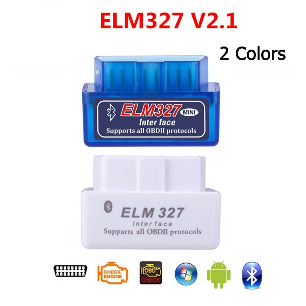 ELM327 V2.1 Bluetooth OBD OBD2 считыватель кодов CAN-BUS поддерживает мультибрендовые автомобили многоязычный ELM 327 BT V2.1 работает на Android/PC