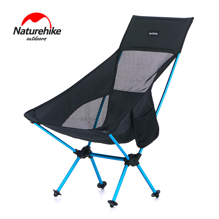 NH Naturehike Outdoor Portable Folding Chair Backrest Fishing Chair Portable Camping Beach Casual Moon Chair Wholesale
