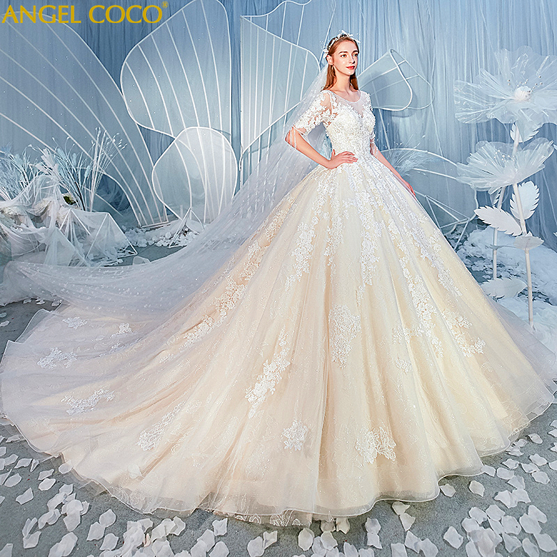 Gorgeous Maternity Dresses Ball Gown Lace Wedding Dress Maternity Clothes Pregnancy Bride Dress Pregnant Women Wedding Gowns