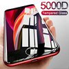 5000D Protective Glass on the For iPhone SE 2020 11 PRO XS Max X XR Tempered Screen Protector Glass 6 7 8 Plus Full Cover Glass