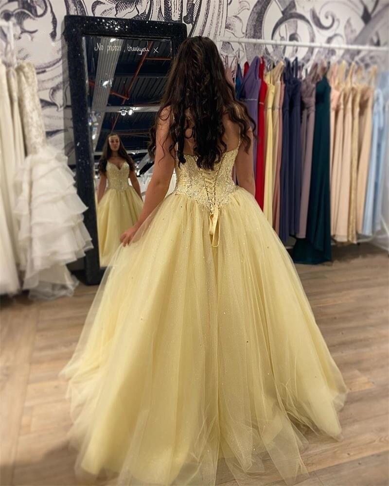 Yellow-Tulle-Floor-Length-Prom-Dresses-Long-Evening-Dress-Vestido-de-festa-Longo-Beaded-Crystals-Formal (1)