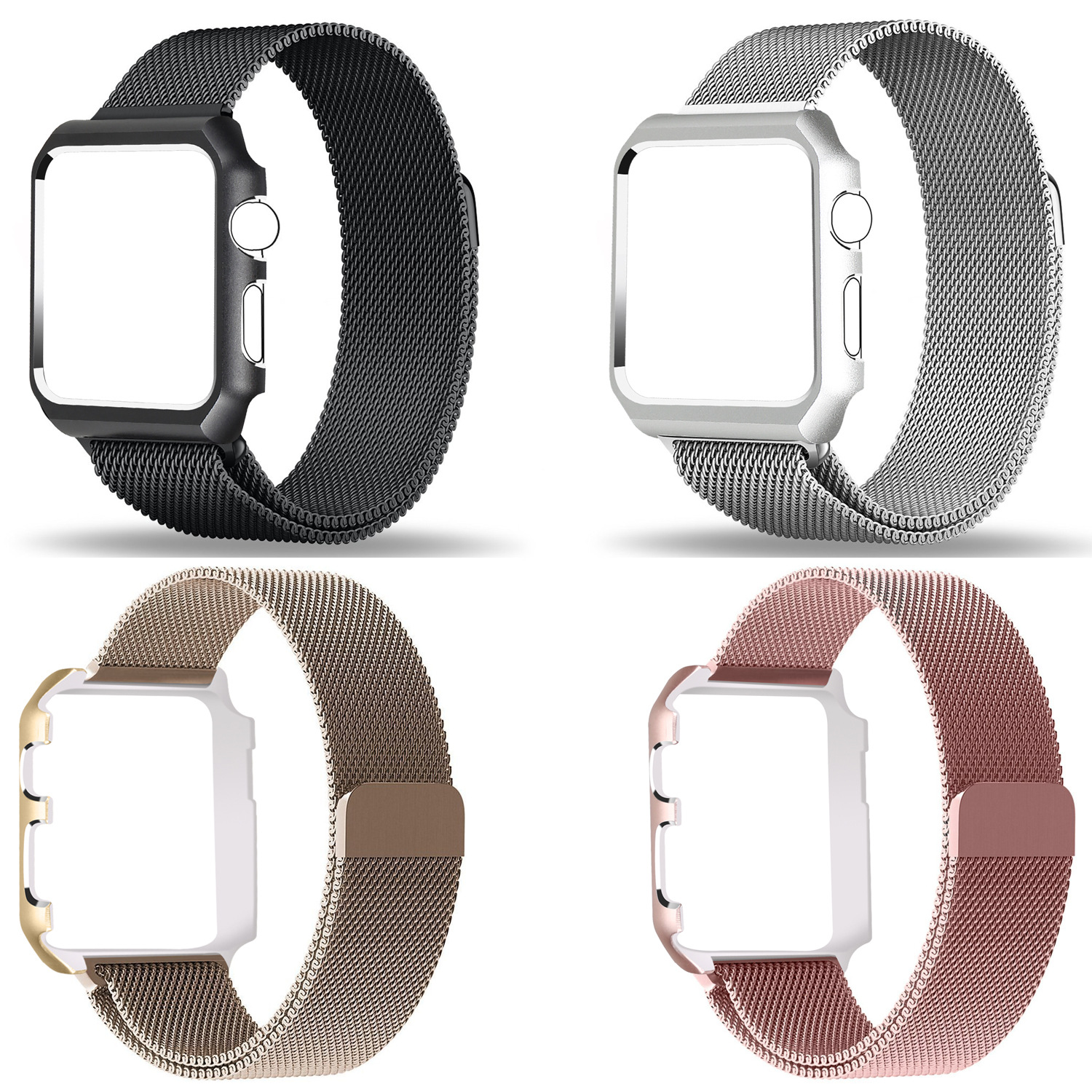 Applicable APPLE Watch Series1/2/3 Milan Nice, Nizza Magnetic Sucker Watch Strap For Apple Character And Picture Frame Watch Str