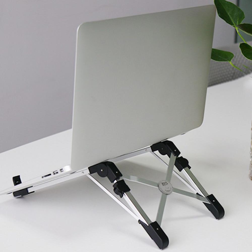 Laptop Stand For Macbook Pro Air Foldable Portable Laptop Holder Ergonomic Adjustable Notebook Support Aluminum Alloy Bracket