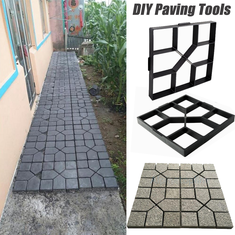 Garden Path Mould DIY Path Maker Mold Reusable Concrete Cement Stone Design Paver Walk Mould Concrete Moldes